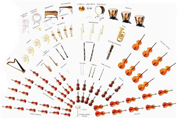 Les différents types d'orchestre