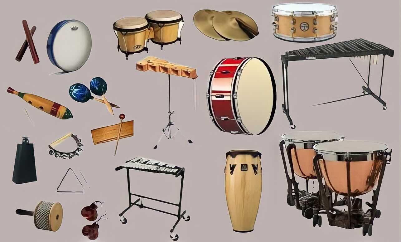 La famille des instruments à percussion